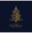 ornamental christmas tree design background vector image vector image