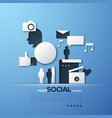 paper concept of social media and networking vector image