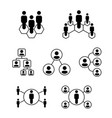 people icon for your network or company position vector image