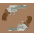 pistol handgun gun isolated revolver with wood vector image vector image