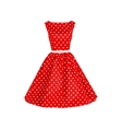 polka dot dress vector image vector image