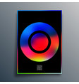 poster with colorful gradient texture shape vector image vector image