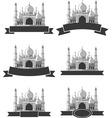 Ramadan Eid Mubarak Greeting Masjid Banner vector image