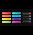 read more web button flat design template color vector image