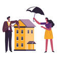 real estate and property insurance protecting vector image