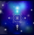 sacred geometry on space vector image vector image