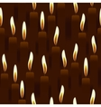 seamless burning candle church background vector image vector image