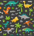seamless pattern cute and funny flat vector image