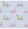 seamless pattern with colorful city bikes vector image vector image
