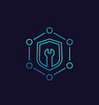 security settings linear icon vector image vector image