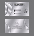silver color business card template image vector image vector image