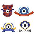 Soccer club logo set vector image vector image