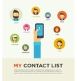 Social Networking People Conceptual vector image vector image