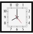 Square wall clock vector image vector image