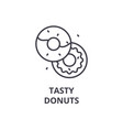 tasty donuts line icon outline sign linear vector image vector image