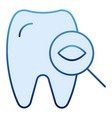 tooth examine flat icon dental examination blue vector image vector image