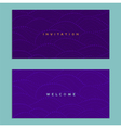 Two invitations cards on a purple background vector image vector image