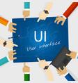 ui user interface web design concept vector image