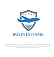 university plane logo designs vector image