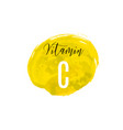 vitamin c watercolor logo yellow ink splash vector image vector image