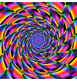 vivid spinning shapes vector image vector image