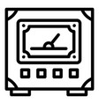 voltmeter icon outline style vector image