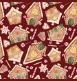 watercolor christmas pattern vector image vector image
