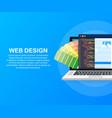 web design concept creating websites designed vector image vector image