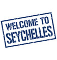 welcome to seychelles stamp vector image vector image