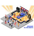 welcome to the party isometric vector image vector image