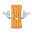 wink air mattress character cartoon vector image