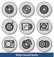 light vinyl record icons vector image