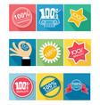 nine guarantee icon vector image