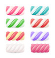 realistic marshmallow candy set colorful vector image