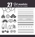 27 mandalas monochrome boho style set