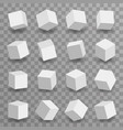 3d modeling square blocks isometric set vector image