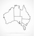 accurate australia map outline with states
