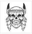 American Indian Chief Skull vector image vector image