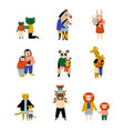 animals parents and their kids set loving vector image vector image
