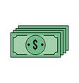 bills dollar cas money currency vector image vector image