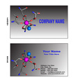 Biotech business card vector image