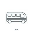 bus icon outline style icon design ui vector image