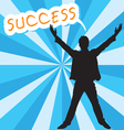 Businessman with success text vector image vector image