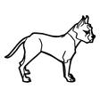 cartoon dog coloring page vector image vector image