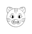 cat pet head cute animal vector image vector image