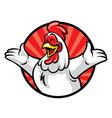 cheerful chicken vector image vector image