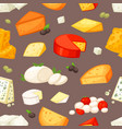 cheese cheesy food and dairy products with vector image