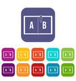 children abc icons set flat vector image vector image