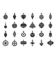 christmas ball ornaments icon set 2 solid design vector image vector image