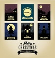 Christmas Greetings Card Collection vector image